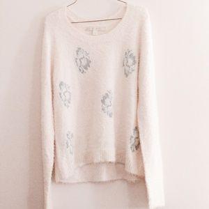 LC Lauren Conrad Fuzzy Sweater